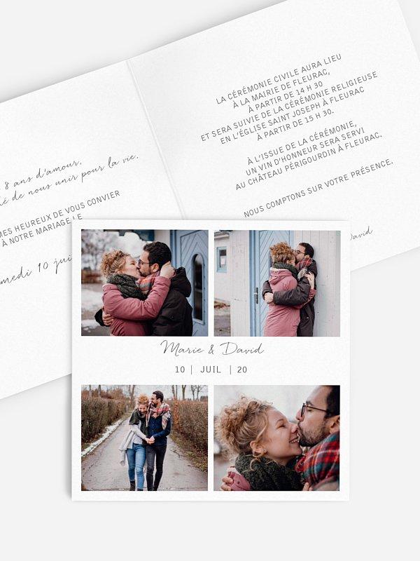 Faire-part de mariage Multi-photos I