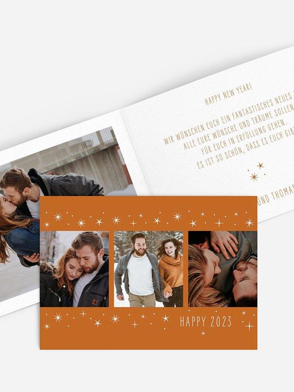 Neujahrskarten Glanz & Glück