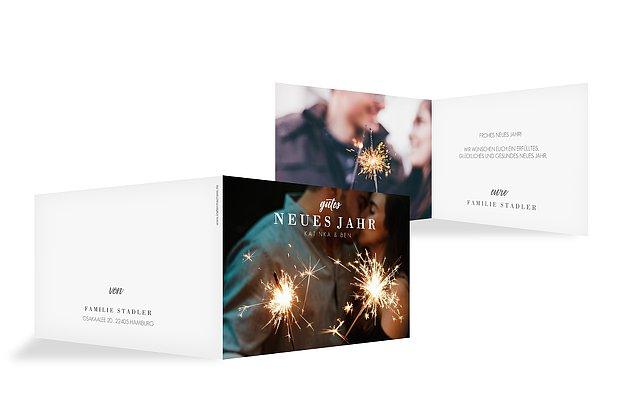 Neujahrskarten Panorama Post