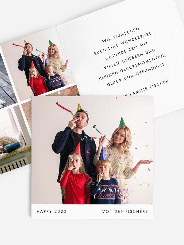 Neujahrskarten Dear New Year