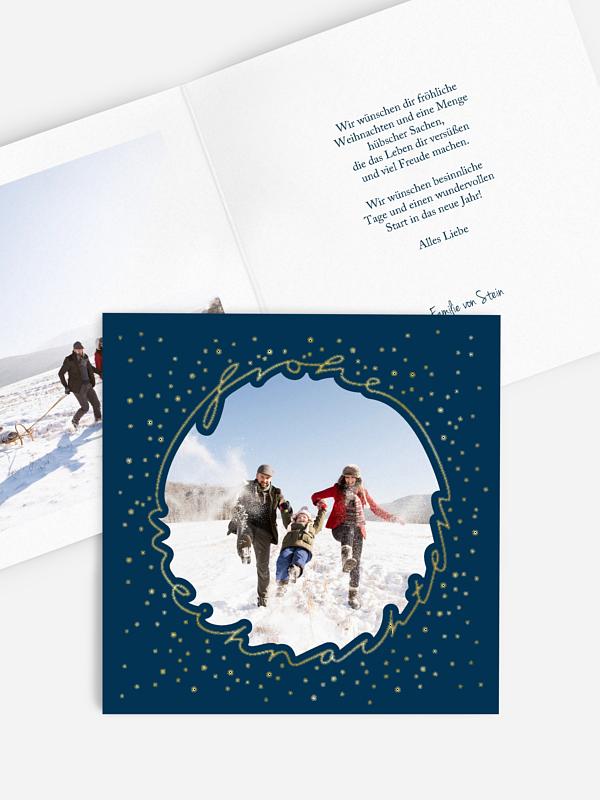 Weihnachtskarte Lichterkreis Premium