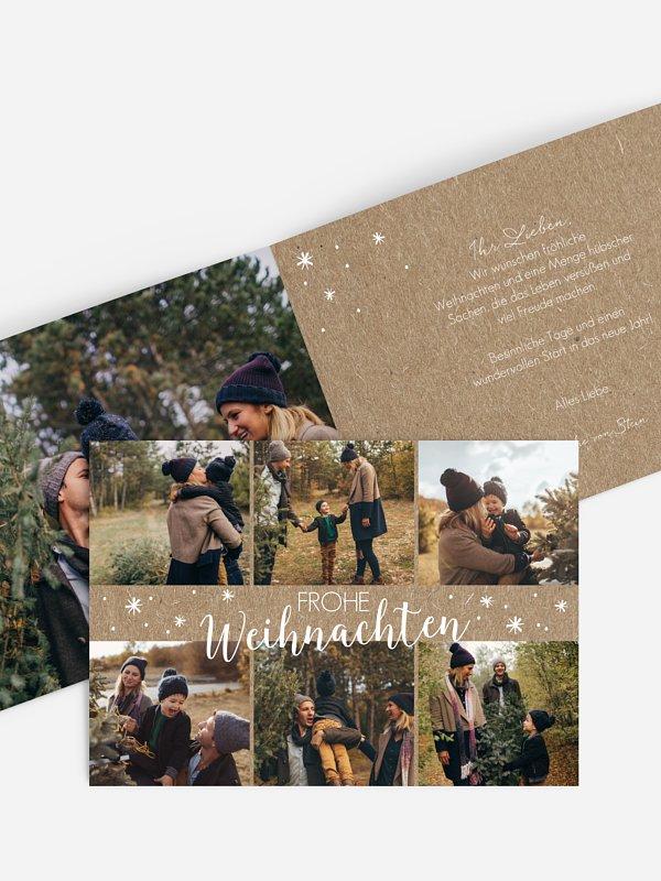 Weihnachtskarte Wie verzaubert Kraftpapier
