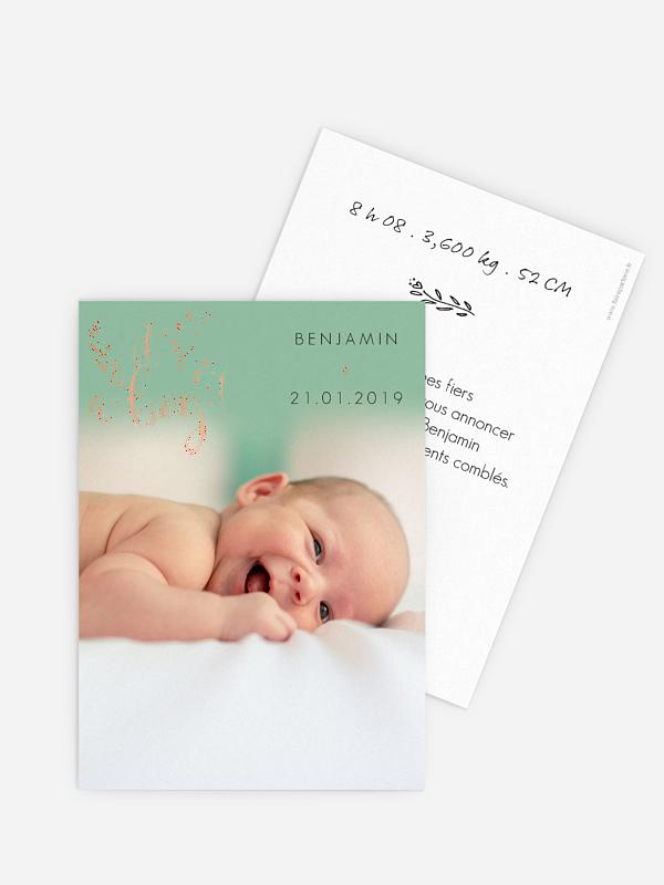 Faire-part naissance Little boy - dorure
