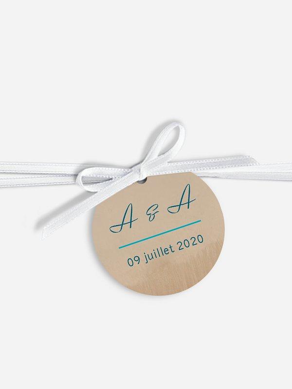 Étiquette avec ruban Écume de mer