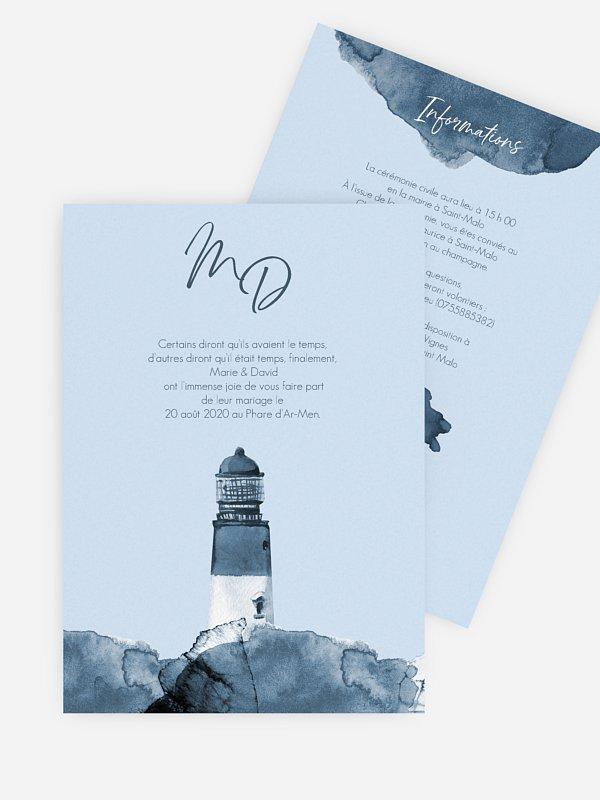 Faire-part de mariage St Malo