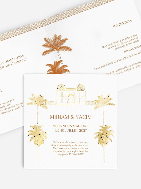Faire-part mariage Marrakech