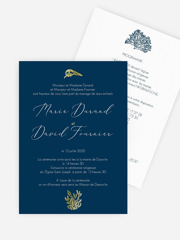 Faire-part de mariage Deauville