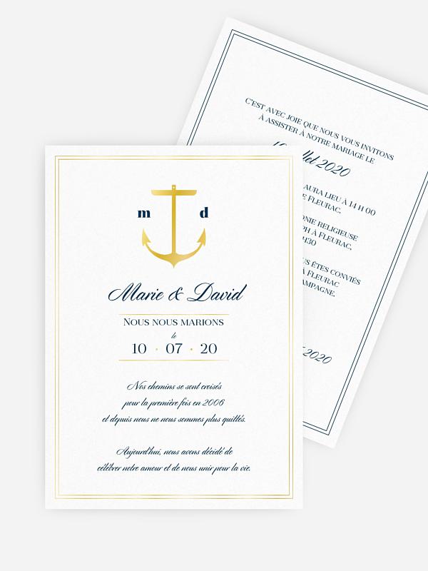 Faire-part de mariage Maritime chic
