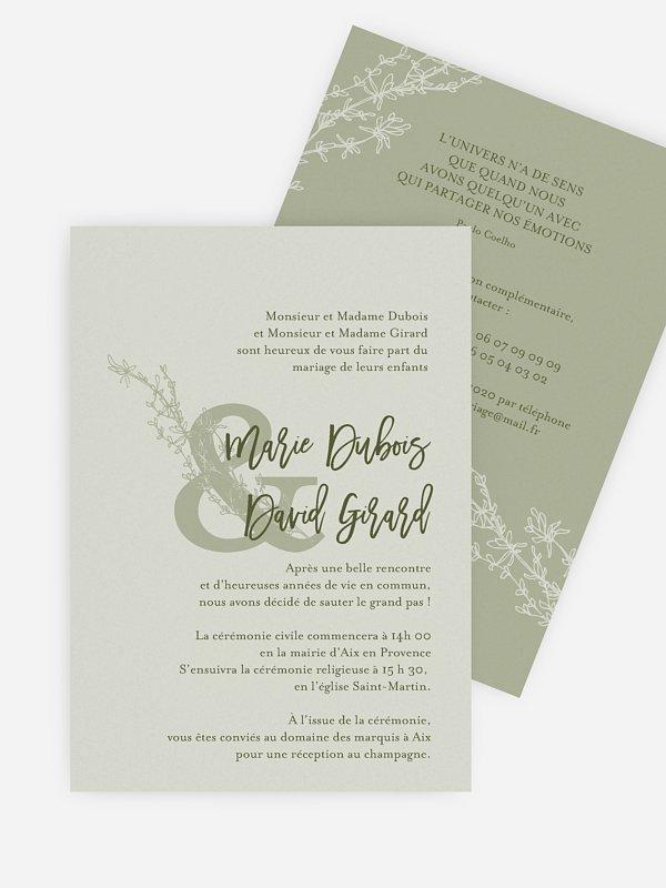 Faire-part mariage Bouquet sauvage
