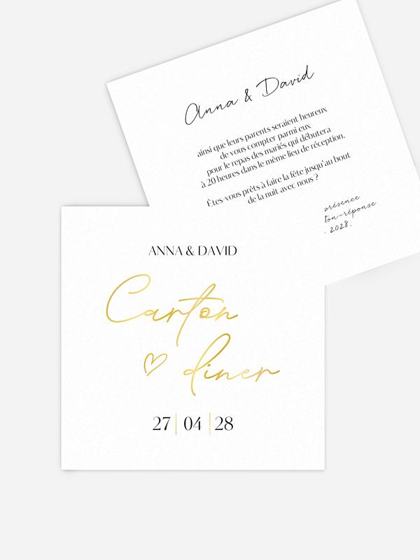 Carton d'invitation Just chic