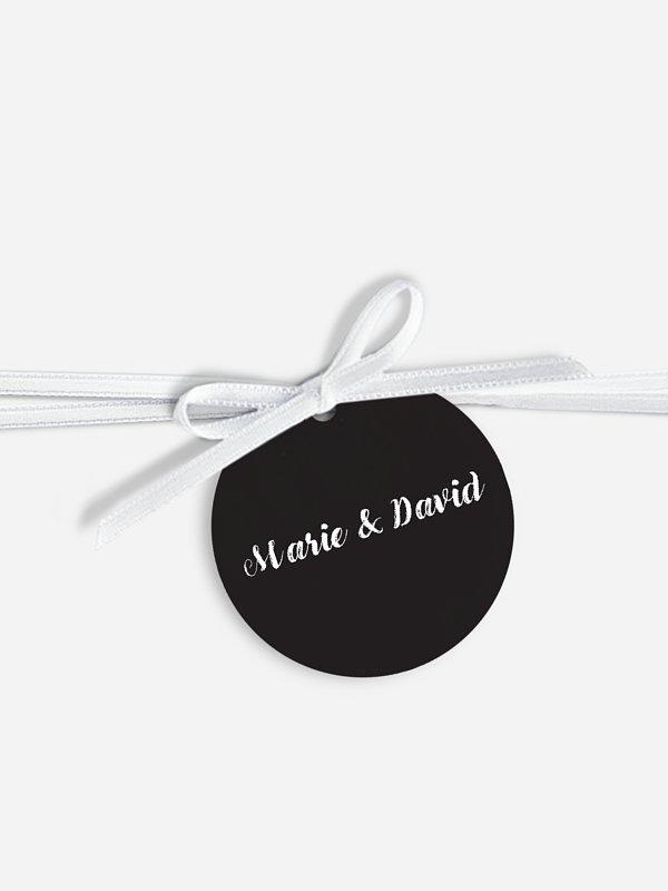 Étiquette avec ruban Jeu de transparence