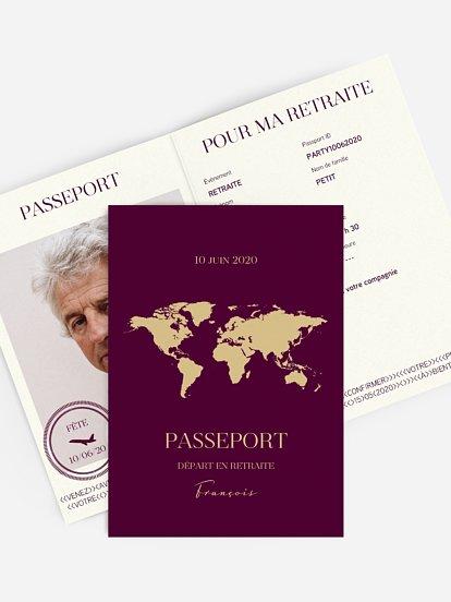 Cartes D Invitation Depart A La Retraite A Personnaliser
