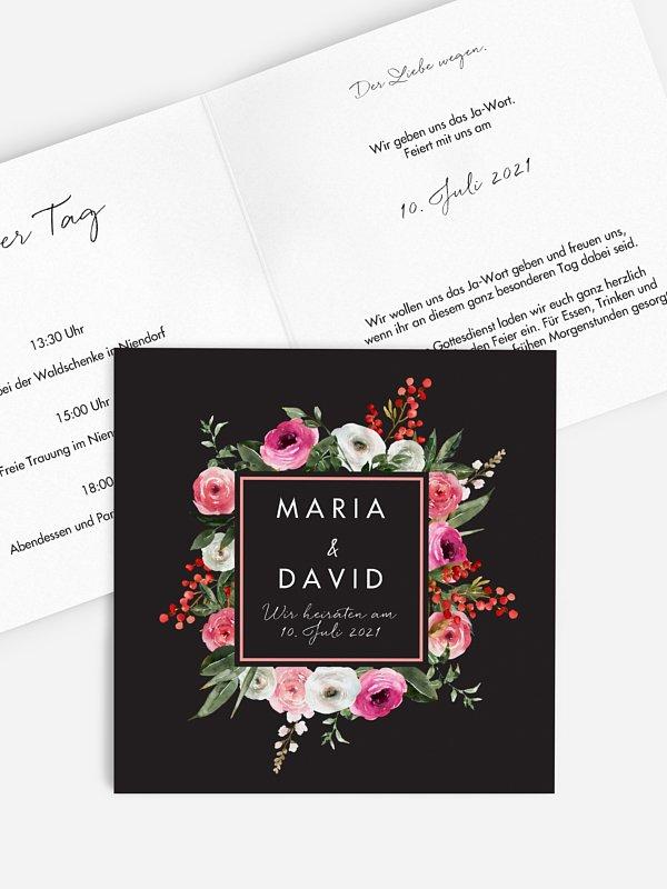 Hochzeitseinladung Romantic Flowers