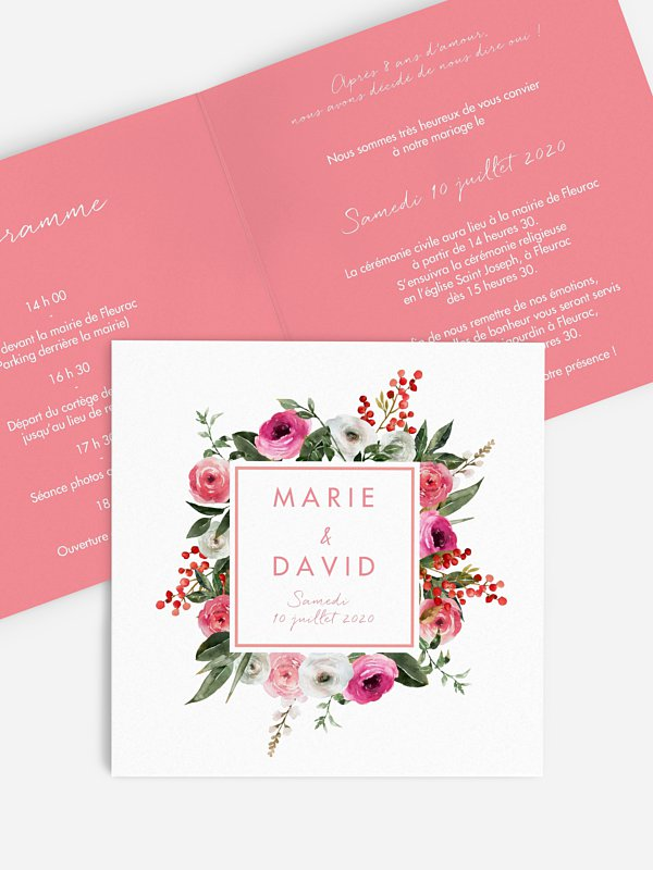 Faire-part de mariage Romantic Flowers