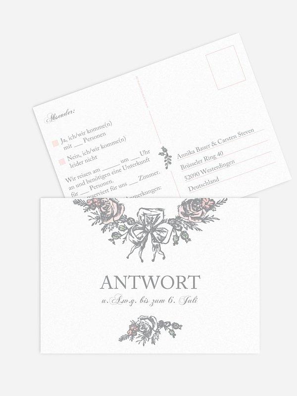 Antwortkarte Hochzeit Kamee