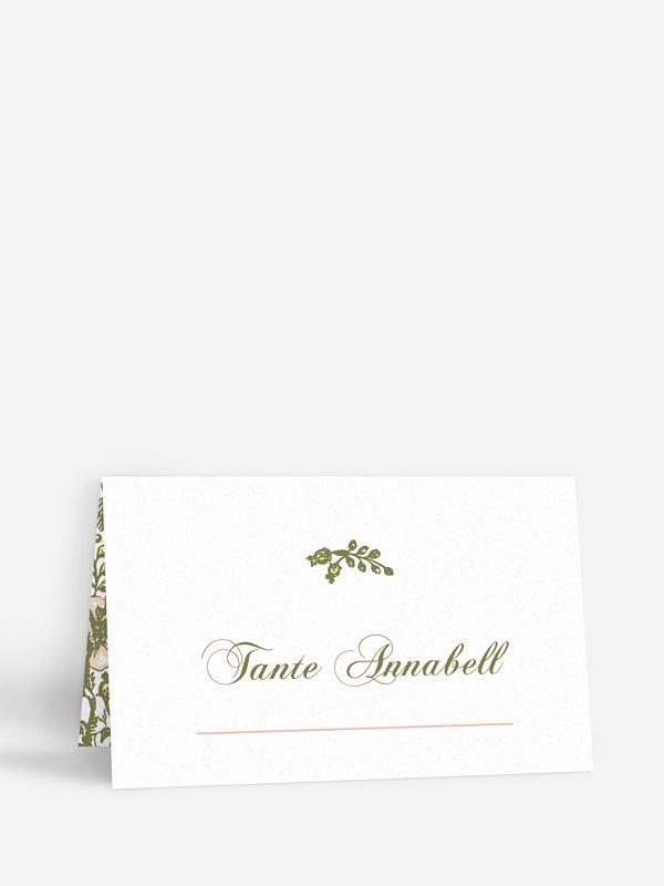 Tischkarte Hochzeit Kamee