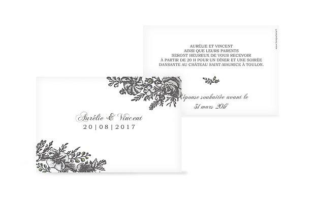 Carton d'invitation Camée