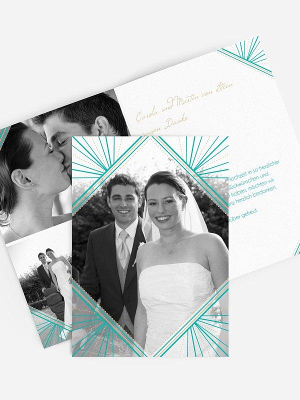 Dankeskarte Hochzeit Art Déco