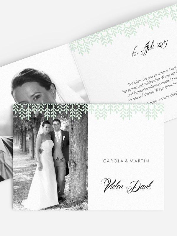 Dankeskarte Hochzeit Glamour