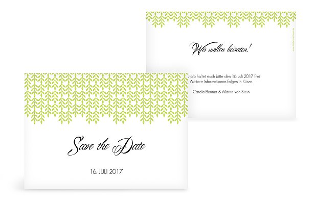 Save-the-Date Karte Glamour