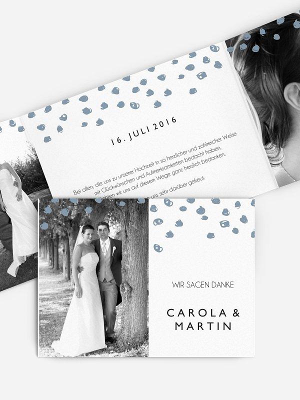 Dankeskarte Hochzeit Getupft