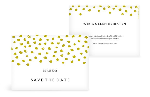 Save-the-Date Karte Getupft