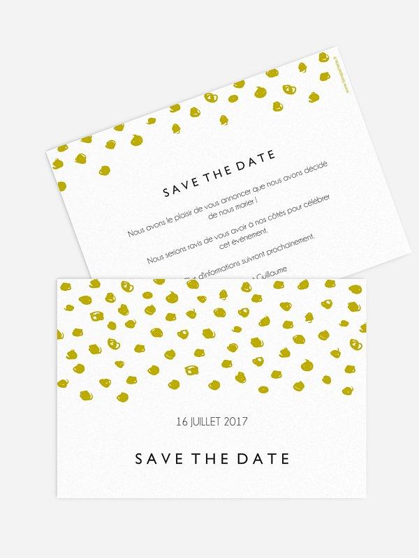 Save the date Confettis
