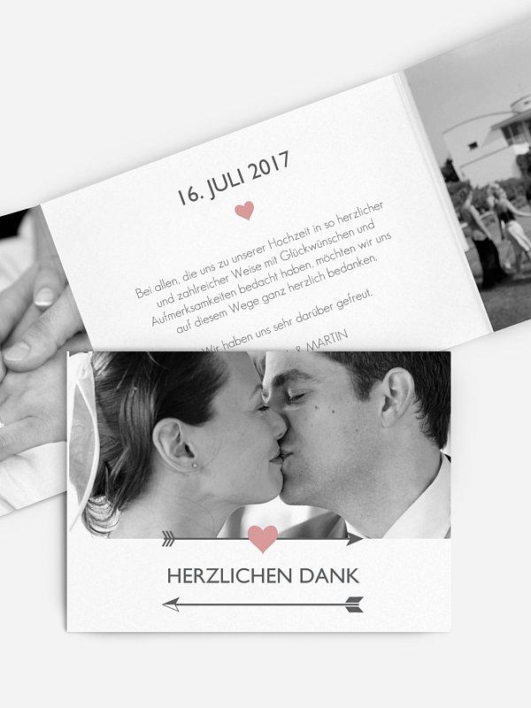 Dankeskarte Hochzeit Amors Pfeil