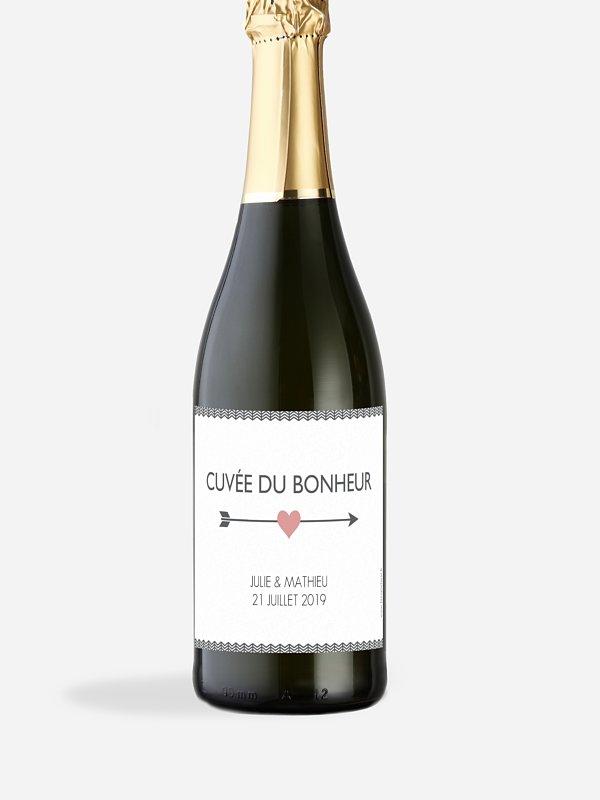 Étiquette bouteille Flèches croisées