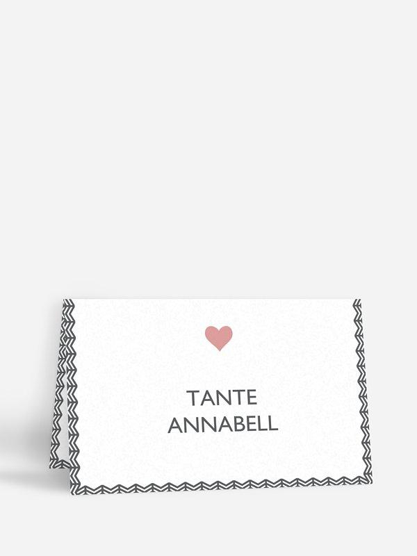 Tischkarte Hochzeit Amors Pfeil