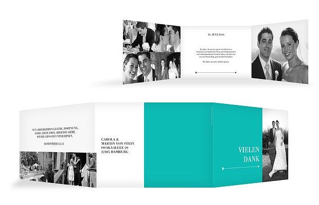 """Dankeskarte Hochzeit """"Color Block"""""""