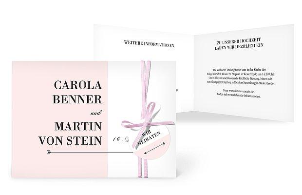 Hochzeitseinladung Color Block