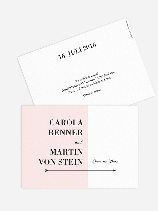 Save-the-Date Karte Color Block