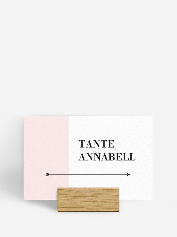 Tischkarte Hochzeit Color Block