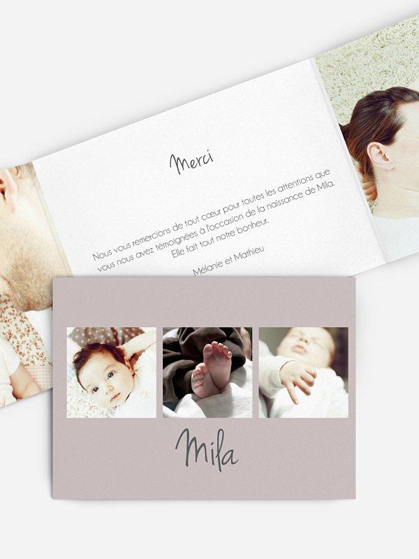 Faire-part naissance Multi-photos