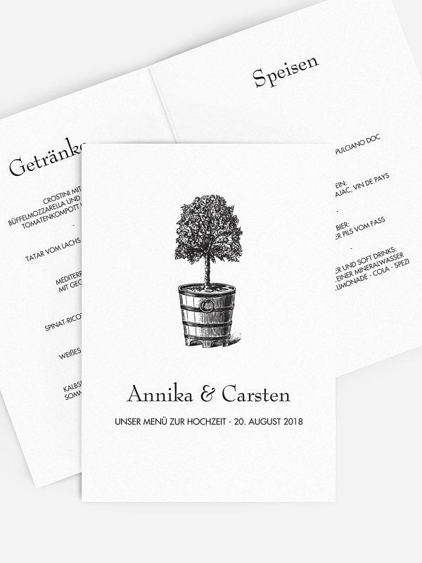 Menükarte Hochzeit Eternal Tree