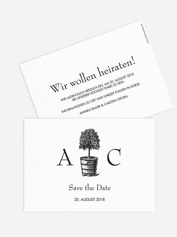 Save-the-Date Karte Eternal Tree