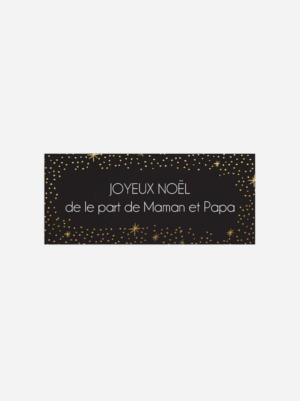 Étiquette cadeau Noël Mer d'étoiles