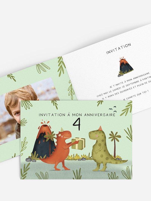 invitation anniversaire enfant Dino party