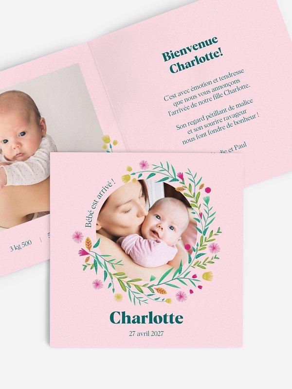 Faire-part naissance Flower Circle