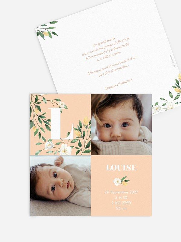 Faire-part naissance Tendre bouquet