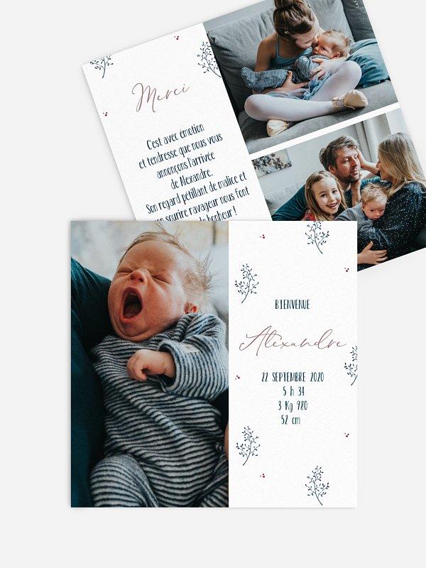 Faire-part naissance Brindilles & Baies