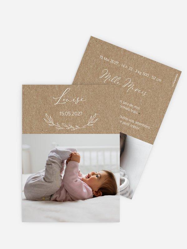 Faire-part naissance Dream papier kraft