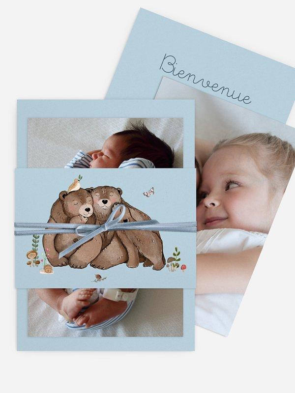 Faire-part naissance Famille ours