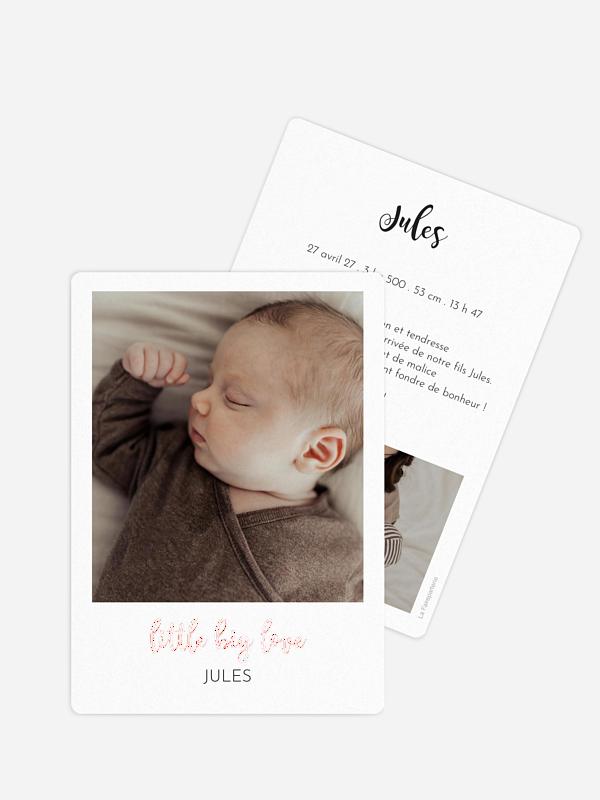 Faire-part naissance Little big Love