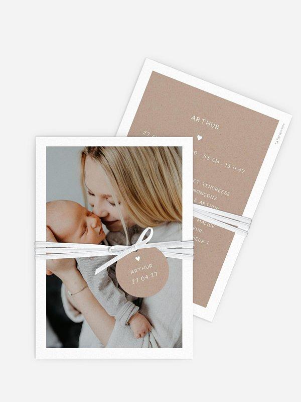 Faire-part naissance Simple photo