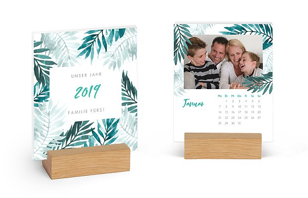 Fotokalender Farn Aquarell by Frau Hölle