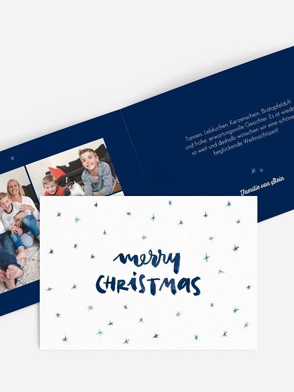 Weihnachtskarte Sternengeflüster