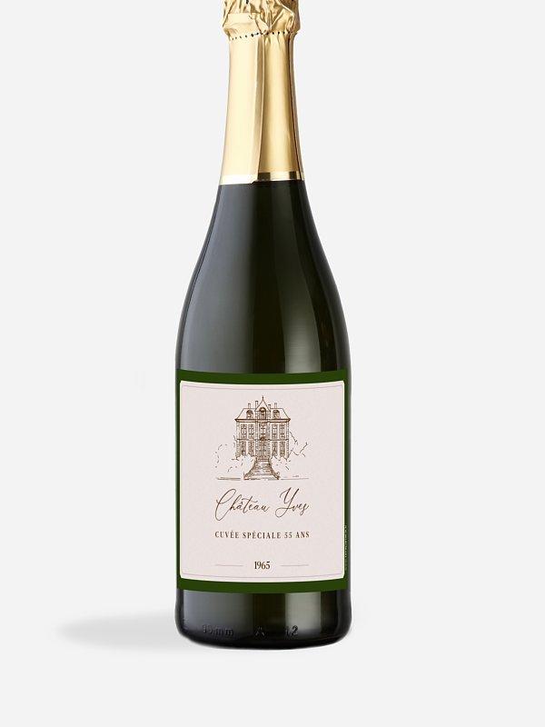 Étiquette pour bouteille Château