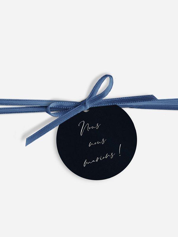 Étiquette avec ruban Envolée florale
